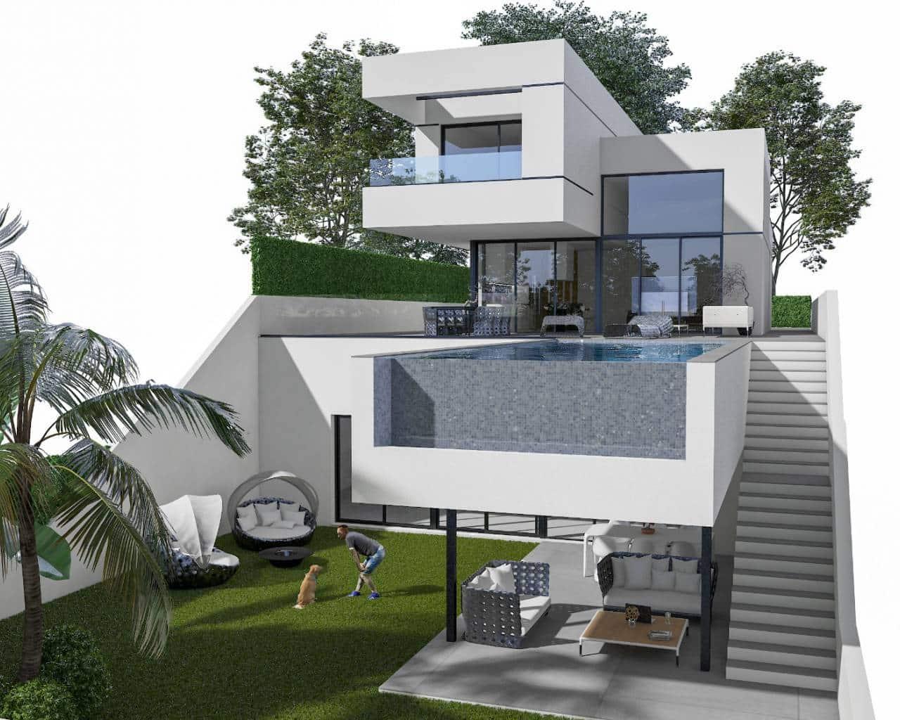 Chalet de 3 habitaciones en Polop en venta con piscina garaje - 555.000 € (Ref: 4660673)