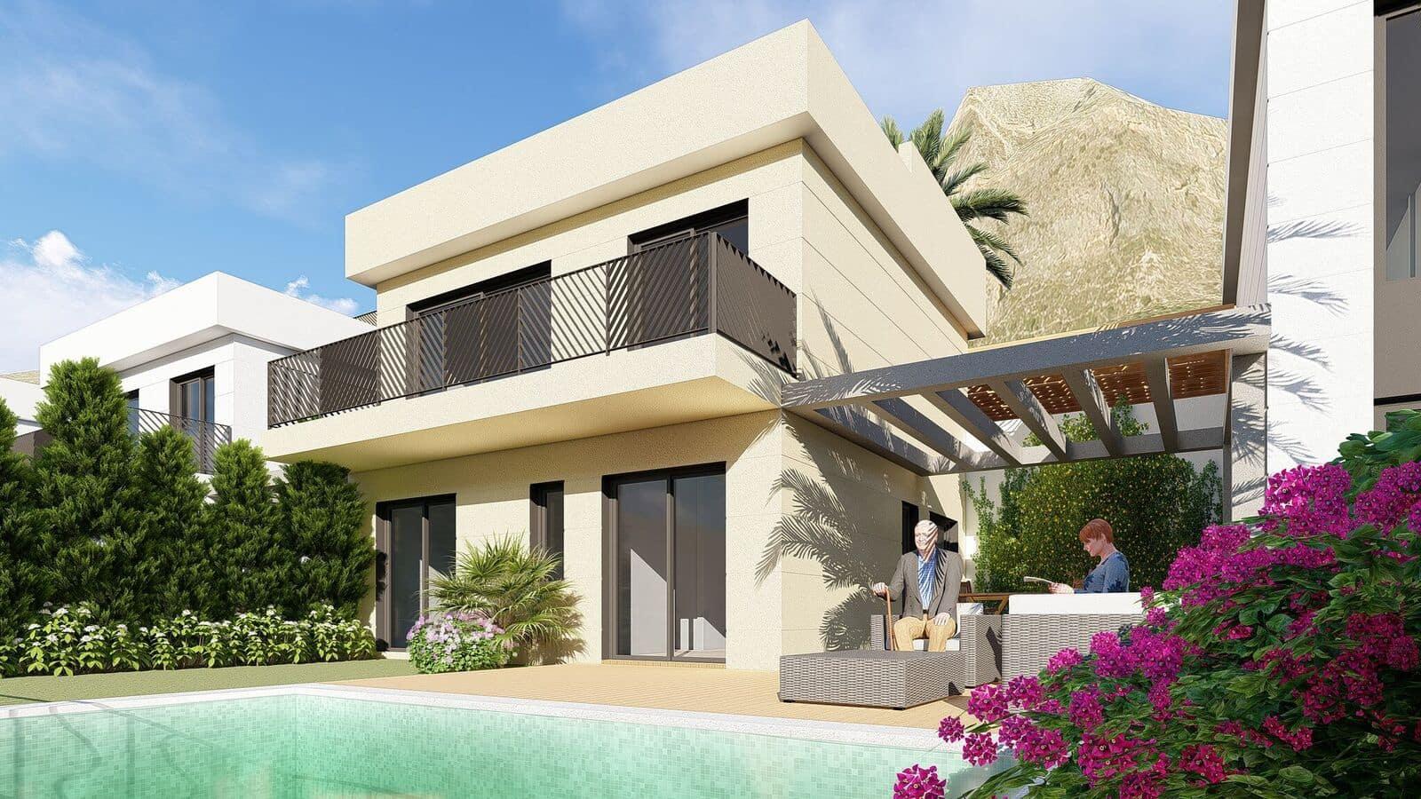 Chalet de 3 habitaciones en Polop en venta con piscina garaje - 307.000 € (Ref: 4816662)