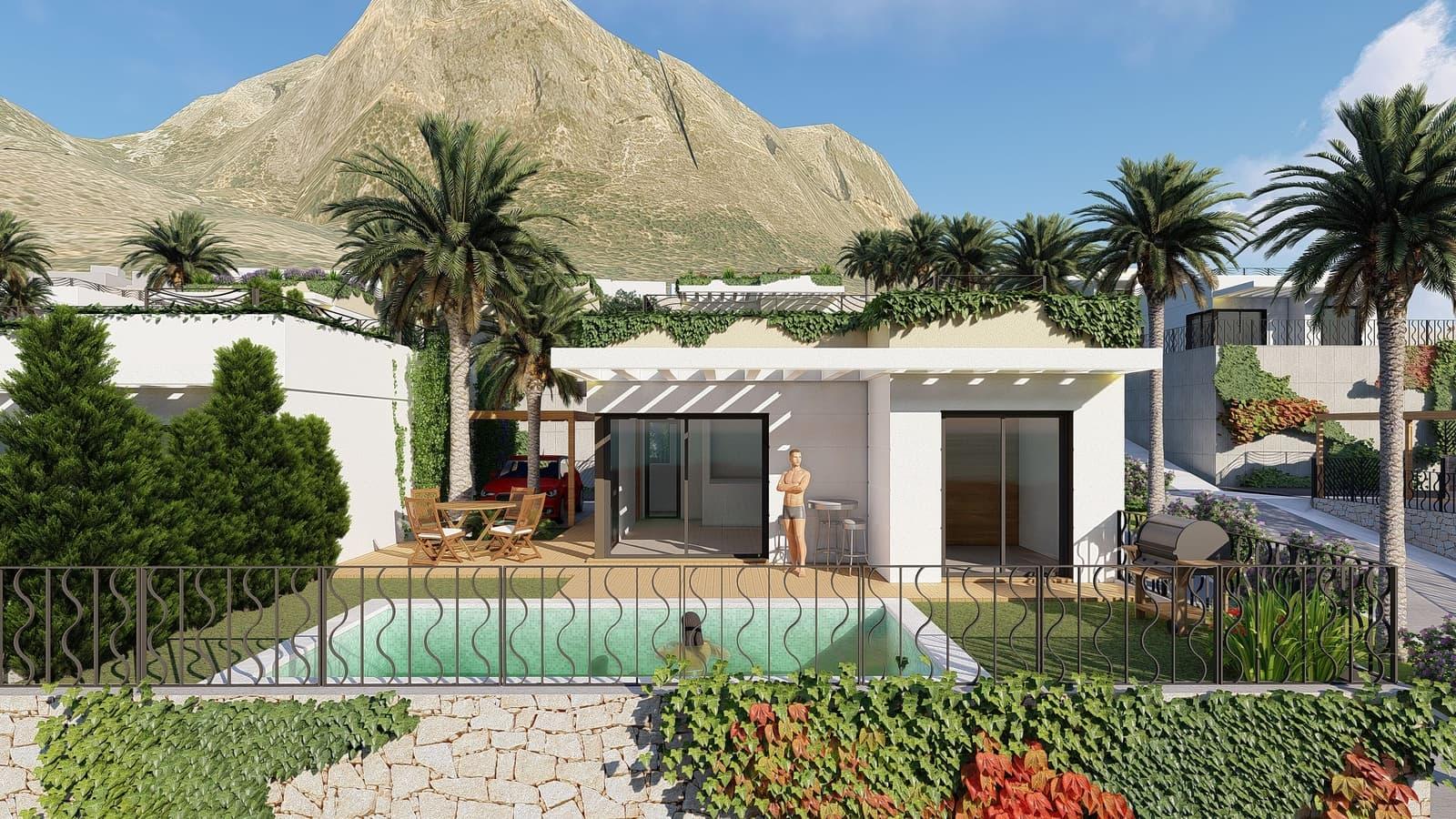 Chalet de 3 habitaciones en Polop en venta con piscina garaje - 225.000 € (Ref: 4816663)