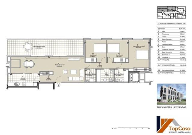 3 bedroom Apartment for sale in Pontevedra city with garage - € 325,000 (Ref: 5803945)