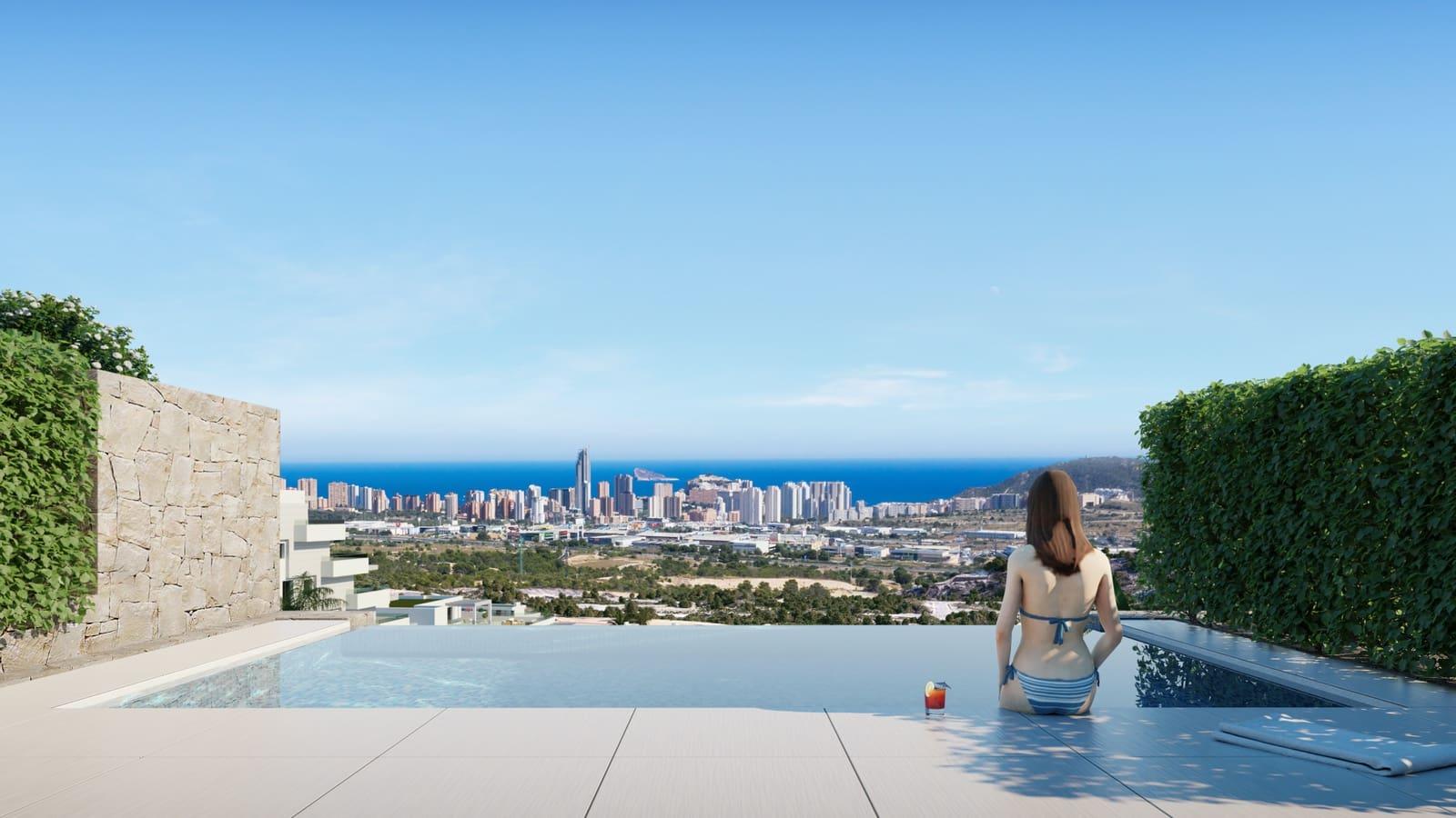 2 soveværelse Byhus til salg i Finestrat med swimmingpool - € 283.000 (Ref: 5551779)