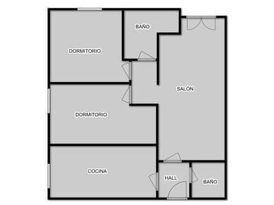 Apartamento de 2 habitaciones en Meruelo en venta con garaje - 96.000 € (Ref: 3668567)