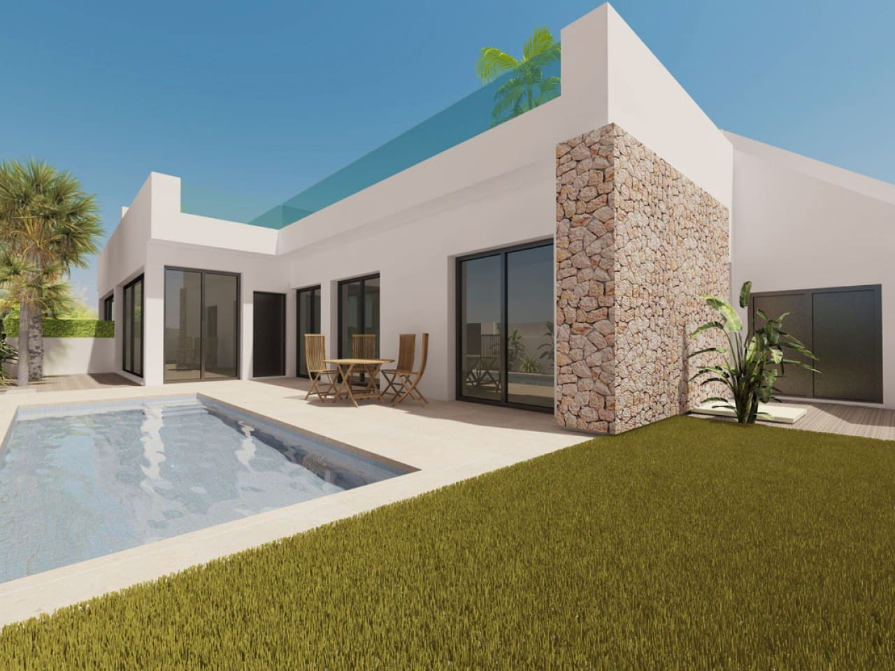Chalet de 2 habitaciones en Pilar de la Horadada en venta con piscina - 204.900 € (Ref: 4982790)