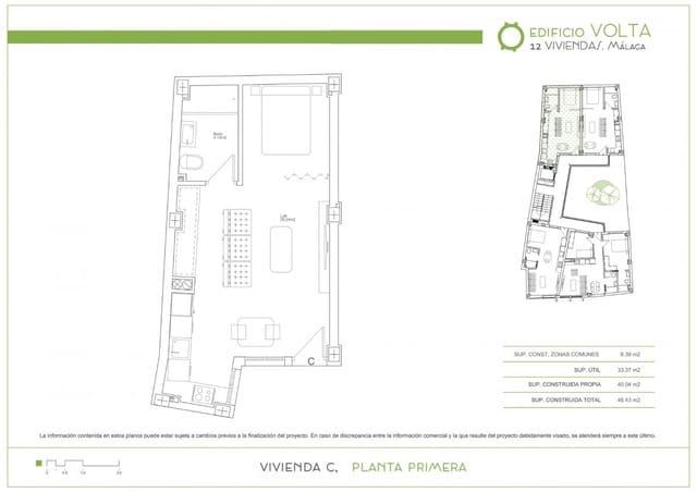 1 sypialnia Loft na sprzedaż w Miasto Malaga - 115 000 € (Ref: 4385220)