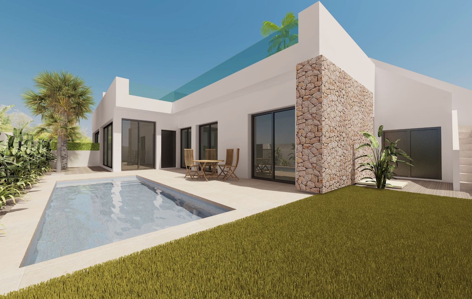 Bungalow de 3 habitaciones en Pilar de la Horadada en venta con piscina - 229.000 € (Ref: 4531223)