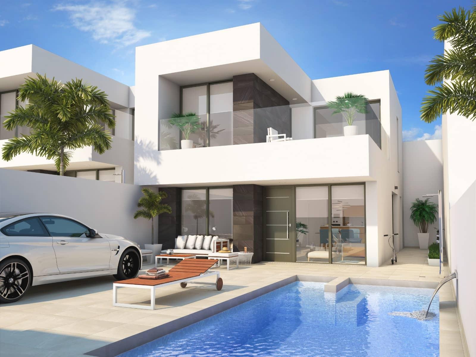 Pareado de 3 habitaciones en Benijófar en venta con piscina - 264.900 € (Ref: 4593657)