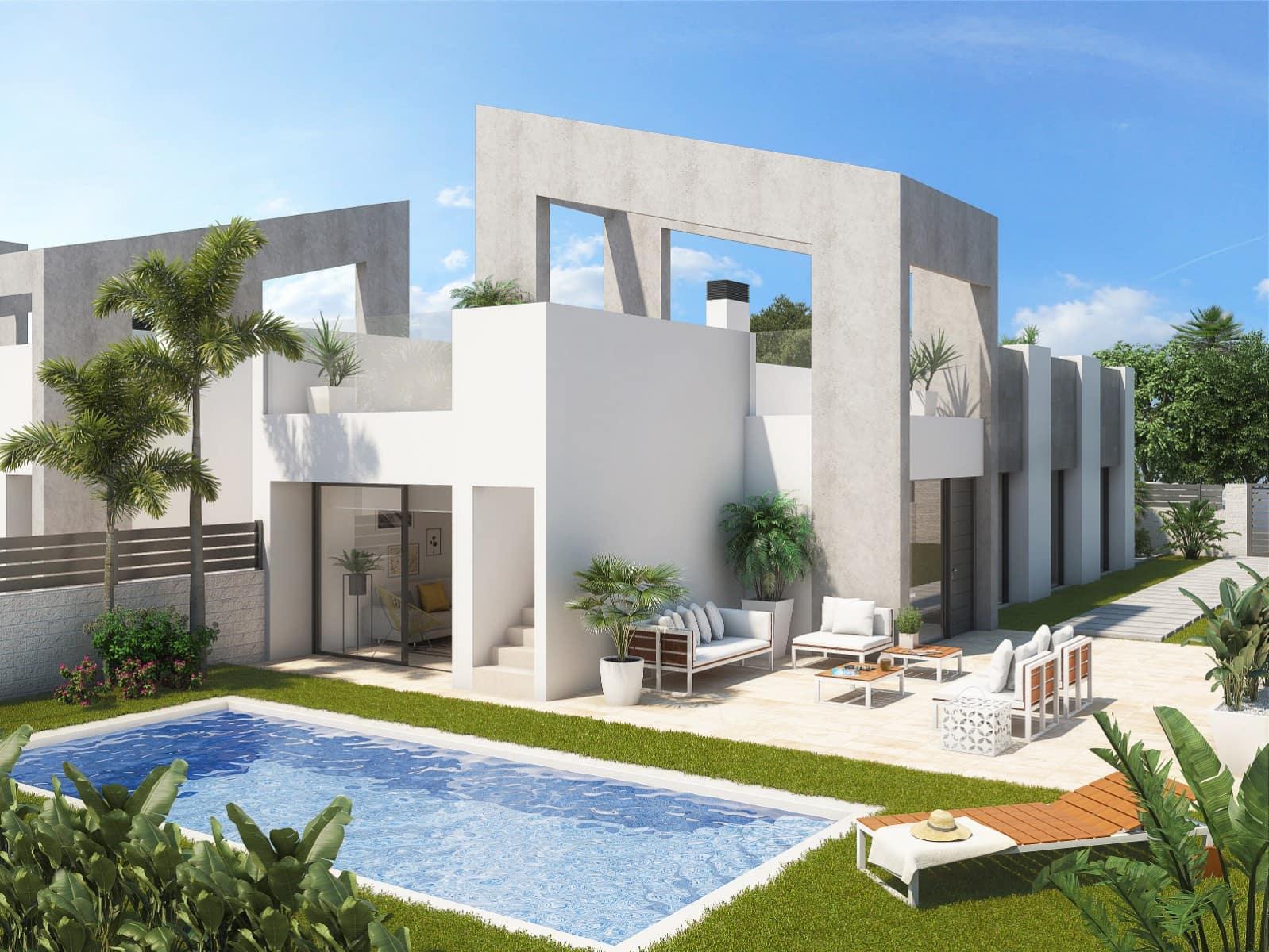 Pareado de 3 habitaciones en Benijófar en venta con piscina - 264.900 € (Ref: 4603628)