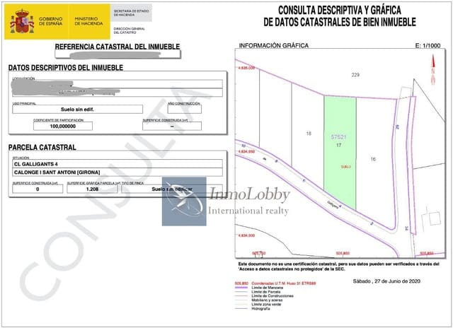 Building Plot for sale in Calonge - € 120,000 (Ref: 5383905)