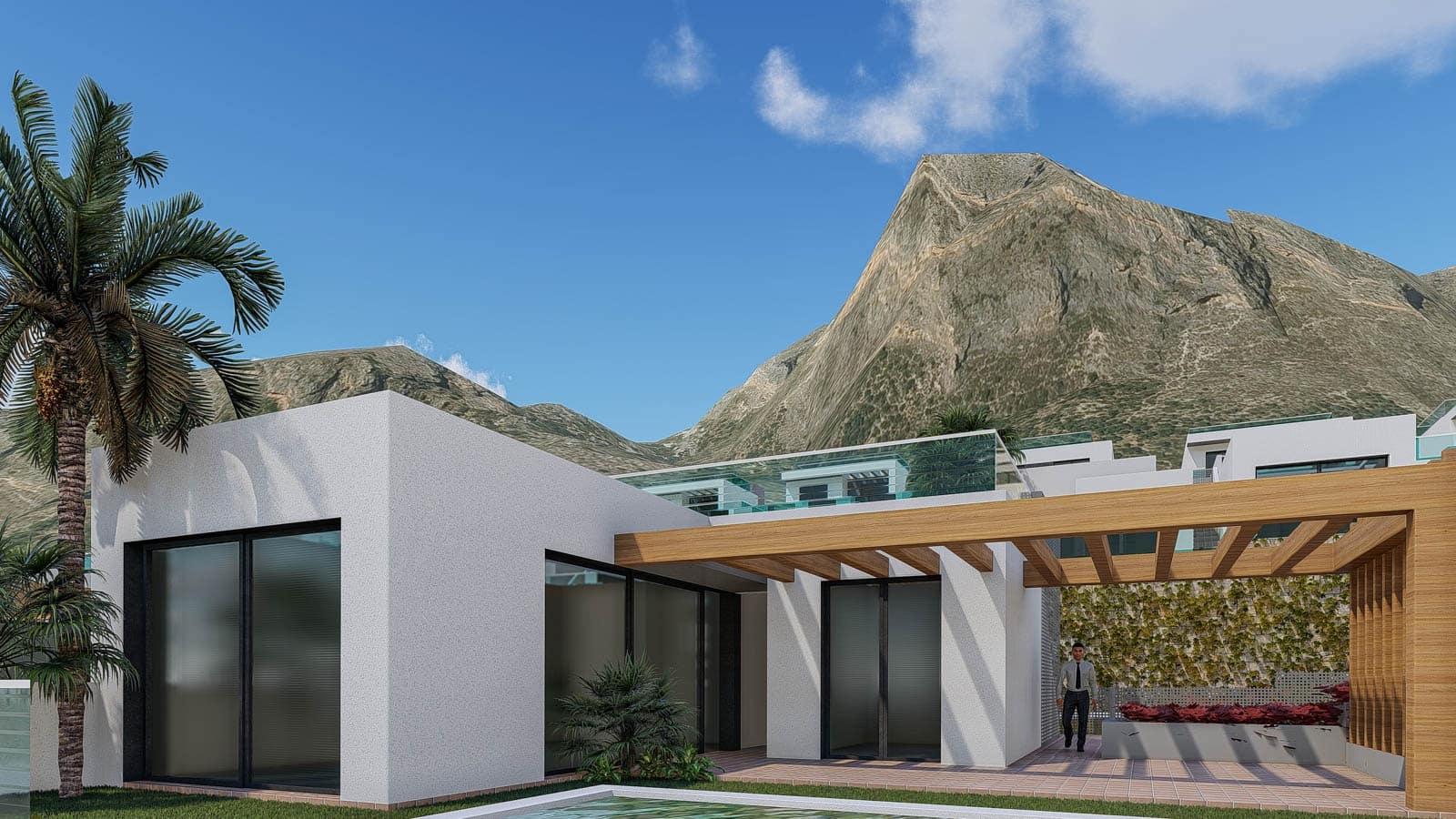 Chalet de 3 habitaciones en Polop en venta con piscina garaje - 225.000 € (Ref: 4700627)