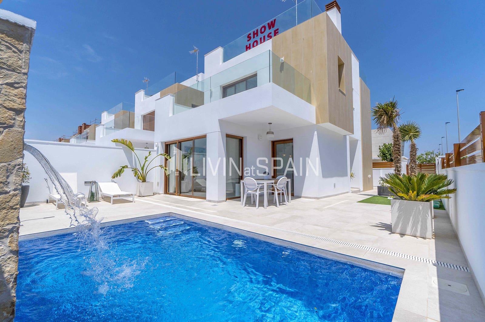 Chalet de 3 habitaciones en Pilar de la Horadada en venta con piscina garaje - 389.500 € (Ref: 4893935)