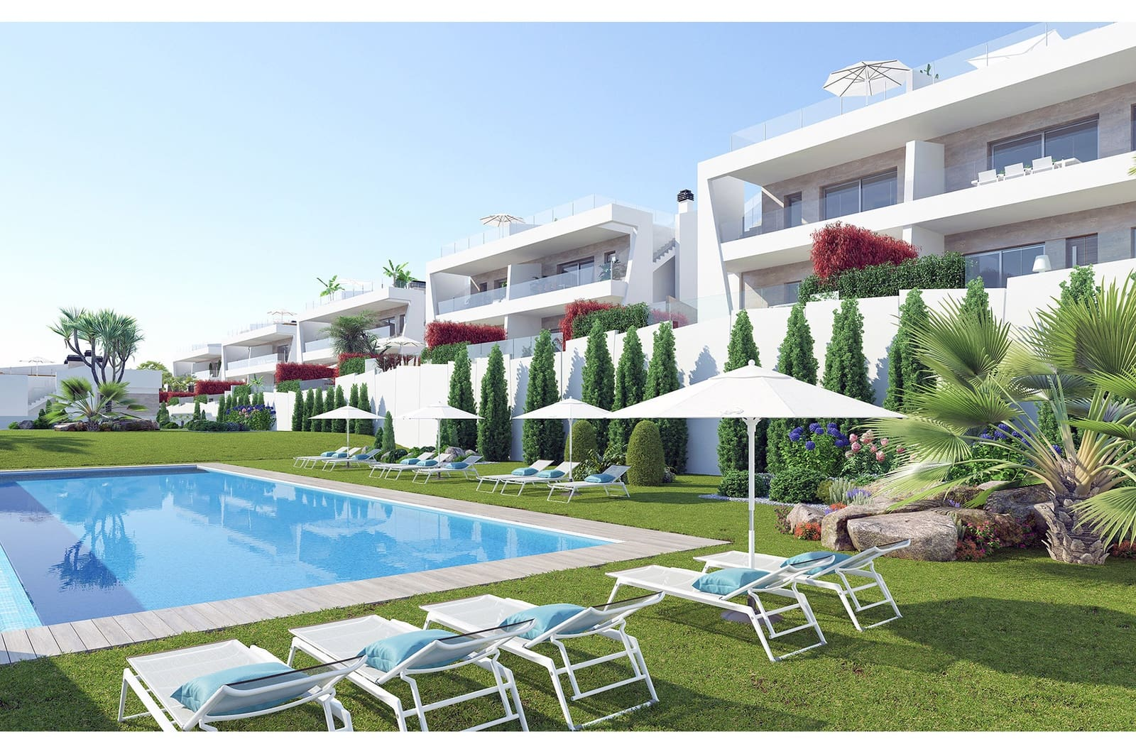 2 bedroom Apartment for sale in Finestrat with pool garage - € 192,000 (Ref: 4893952)