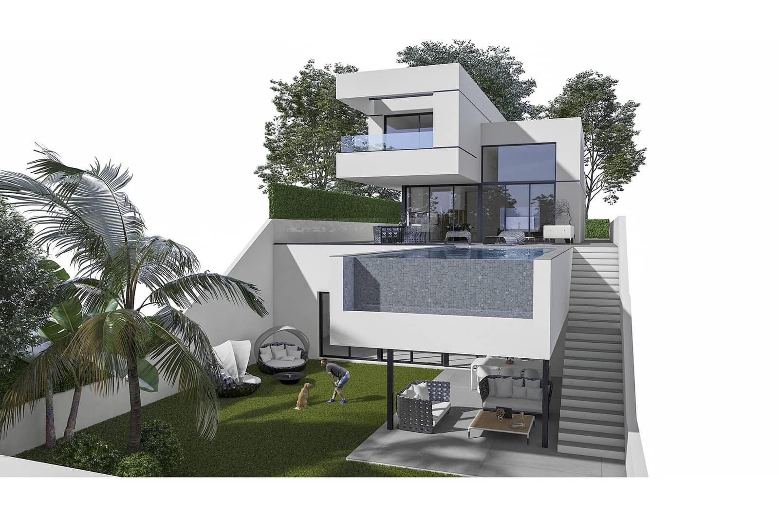 Chalet de 3 habitaciones en Polop en venta con piscina garaje - 615.000 € (Ref: 4893965)
