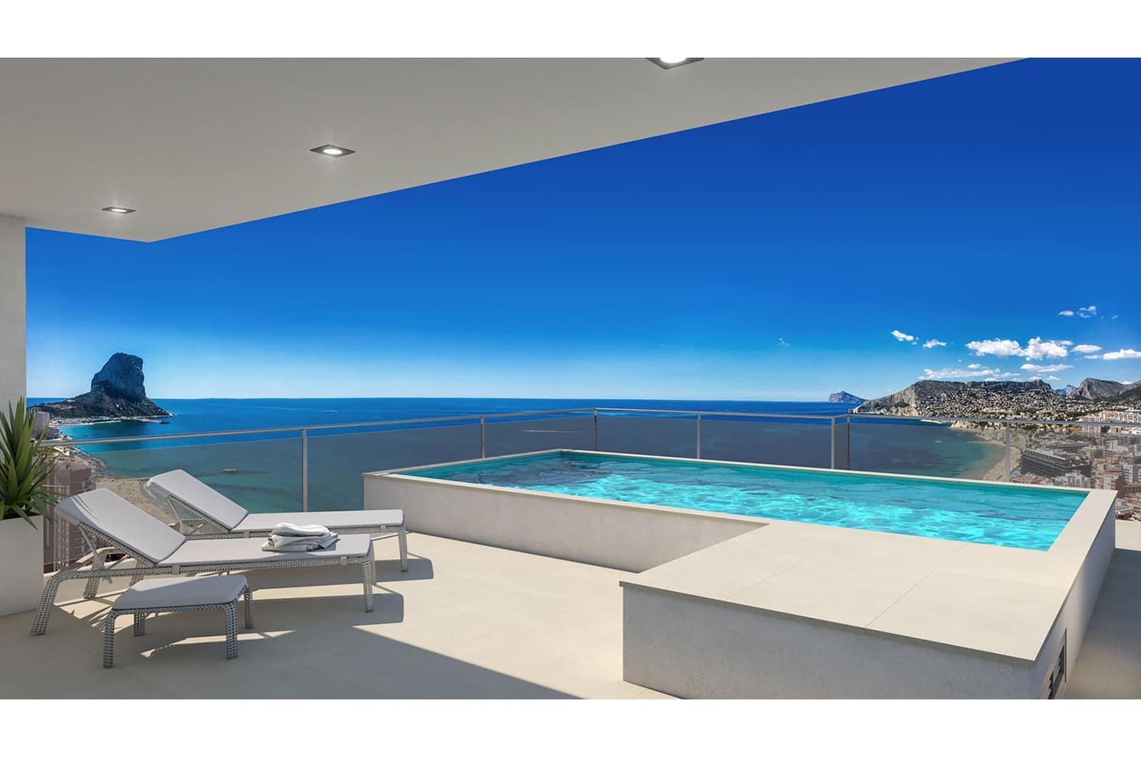 3 camera da letto Attico in vendita in Calpe / Calp con piscina garage - 970.000 € (Rif: 4893994)