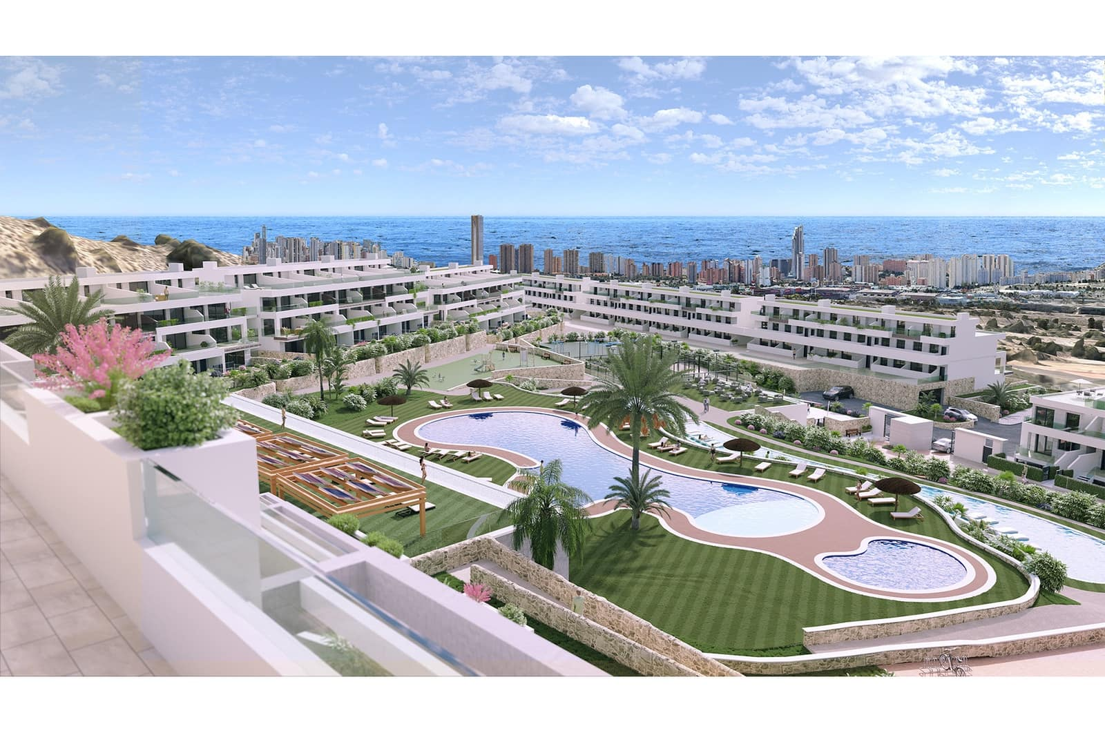 2 bedroom Apartment for sale in Finestrat with pool - € 205,000 (Ref: 4894126)