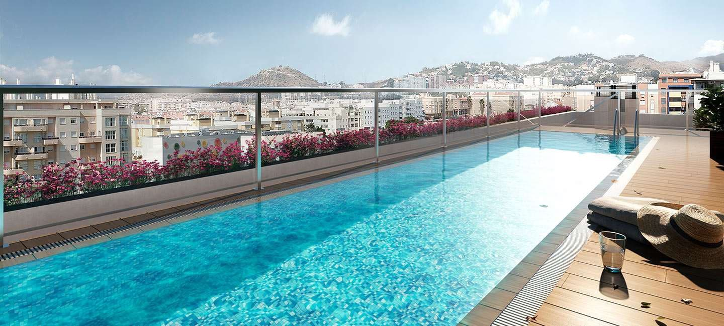 2 bedroom Apartment for sale in Malaga city with pool garage - € 246,500 (Ref: 4860460)