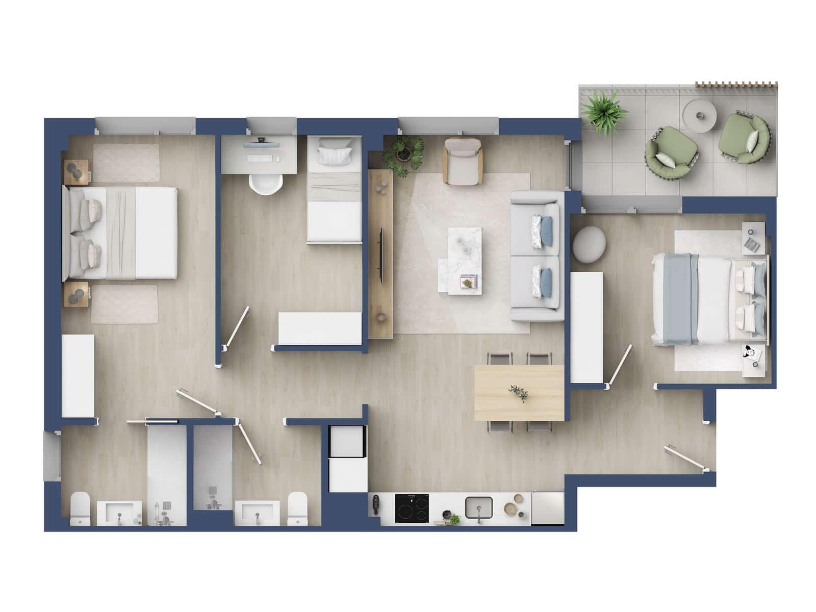 3 chambre Appartement à vendre à Sant Adria de Besos avec piscine - 270 000 € (Ref: 5931527)