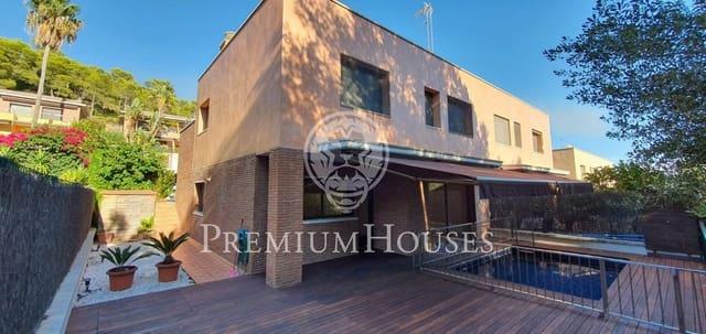 4 slaapkamer Rijtjeshuis te huur in Les Botigues de Sitges met zwembad garage - € 2.600 (Ref: 5572389)
