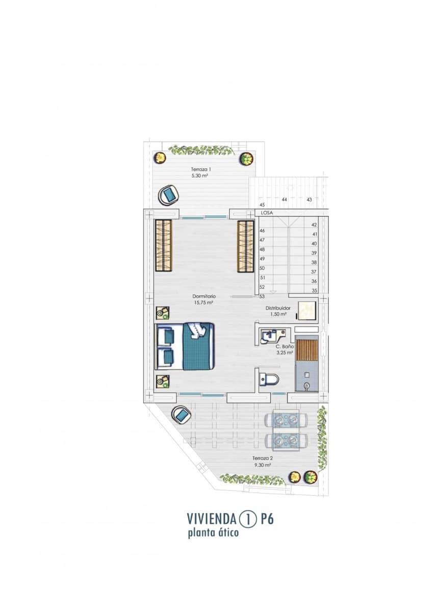 3 chambre Villa/Maison Mitoyenne à vendre à Tarifa avec garage - 330 000 € (Ref: 5983324)