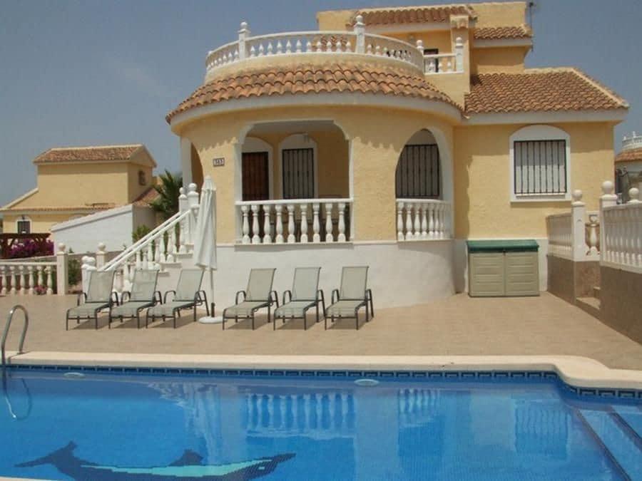 3 Zimmer Ferienvilla in Camposol mit Pool - 420 € (Ref: 5221384)