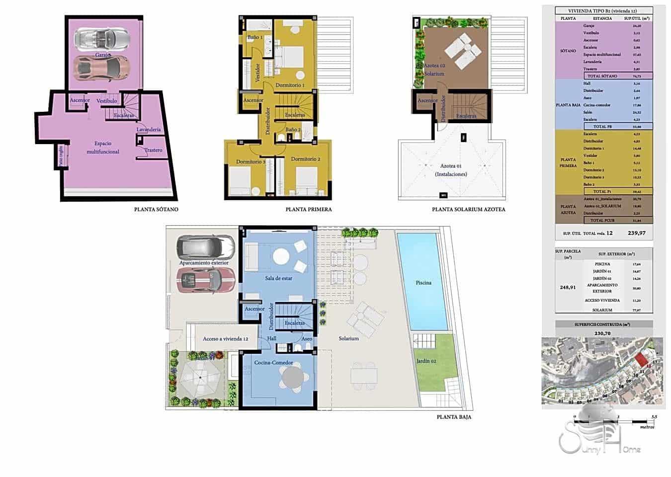 Chalet de 3 habitaciones en San Miguel de Abona en venta con piscina - 550.000 € (Ref: 6065699)