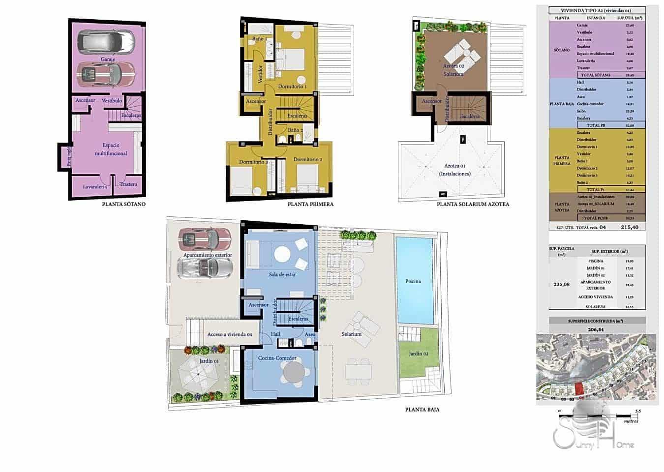 Chalet de 3 habitaciones en San Miguel de Abona en venta con piscina - 540.000 € (Ref: 6065706)