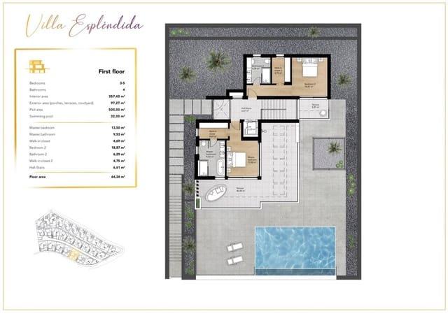 5 makuuhuone Huvila myytävänä paikassa Costa Adeje mukana uima-altaan - 1 730 000 € (Ref: 6084593)