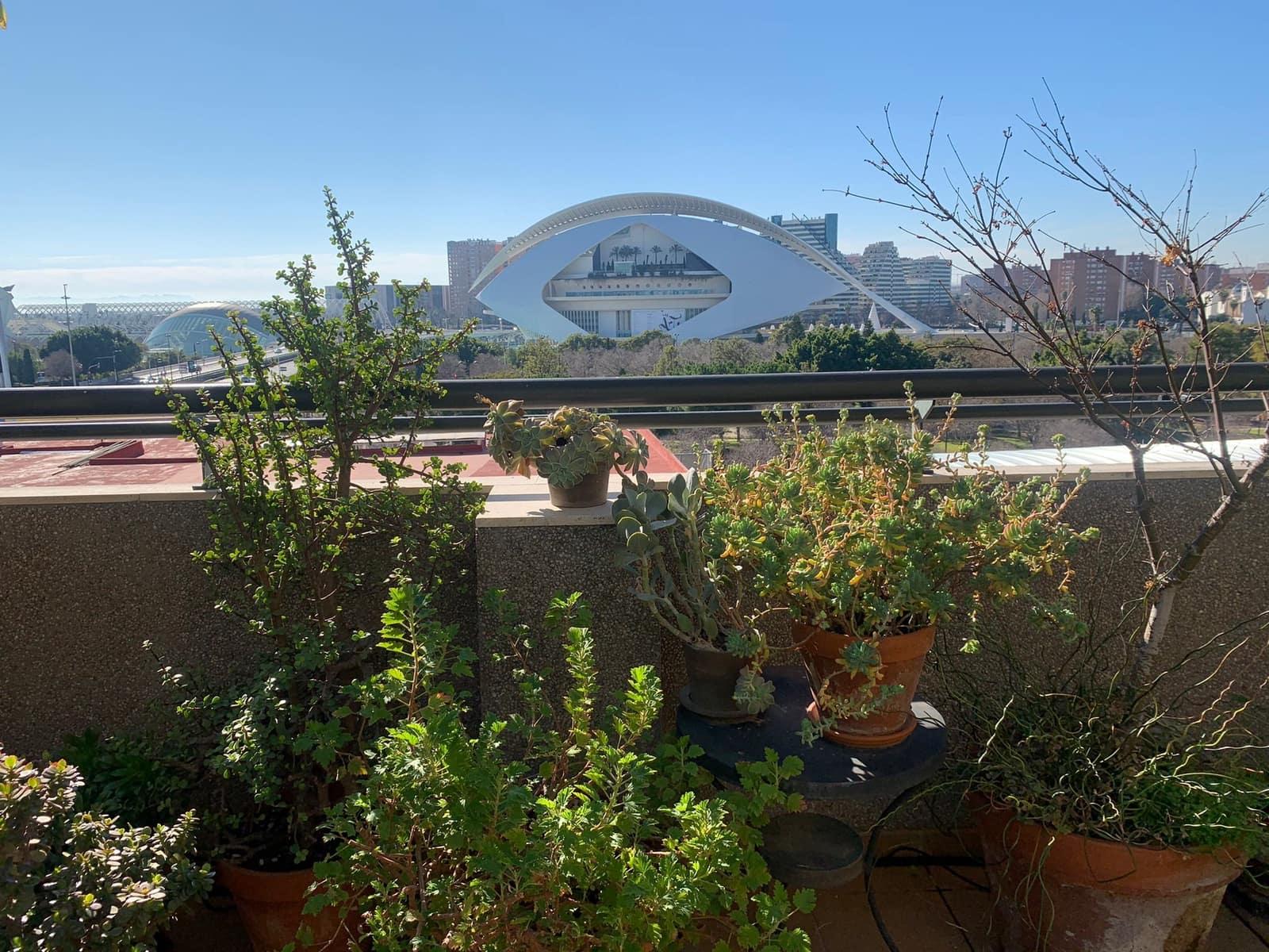 3 soverom Penthouse til leie i Valencia by - € 1 800 (Ref: 6031031)