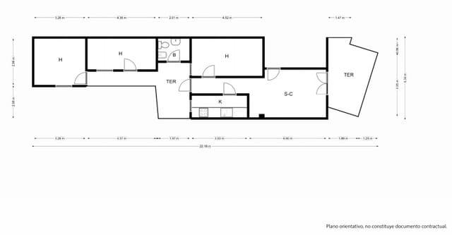 3 bedroom Apartment for rent in Manacor - € 600 (Ref: 6100057)