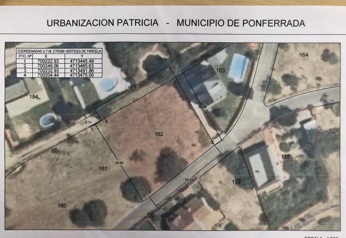 Działka budowlana na sprzedaż w Ponferrada - 45 000 € (Ref: 6304299)