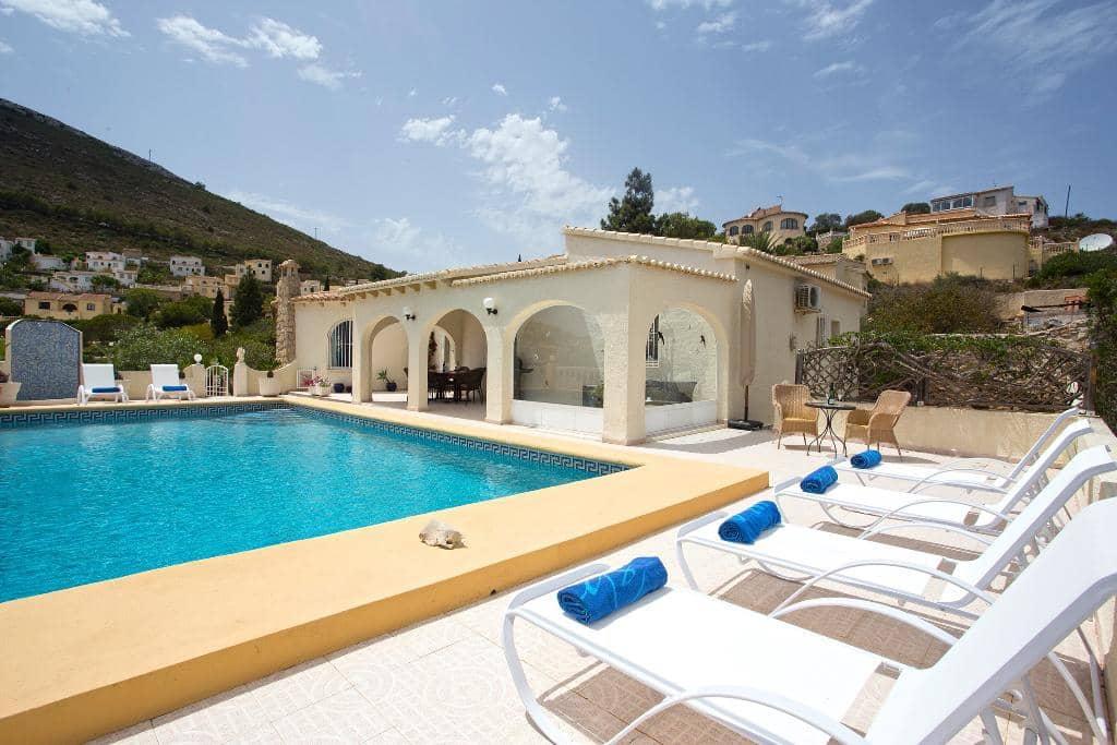 3 sypialnia Willa na kwatery wakacyjne w Benitachell / Benitatxell z basenem garażem - 432 € (Ref: 3799242)