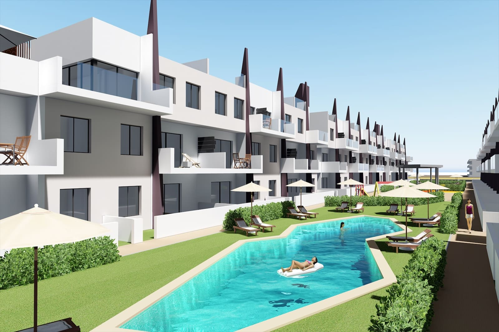 Apartamento de 3 habitaciones en Pilar de la Horadada en venta con piscina - 299.900 € (Ref: 4485798)