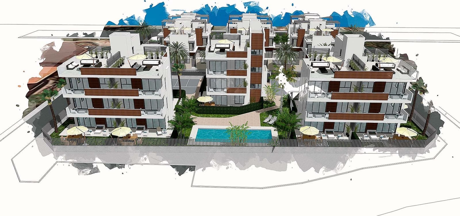 3 sovrum Takvåning till salu i Santiago de la Ribera med pool - 249 900 € (Ref: 5937197)